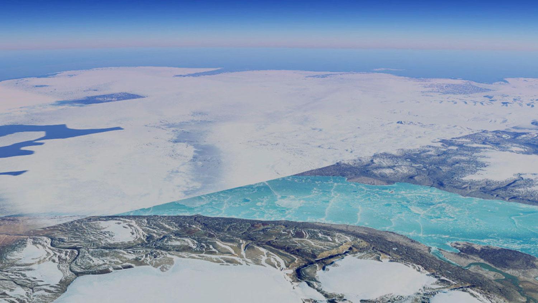 de locatie op Groenland