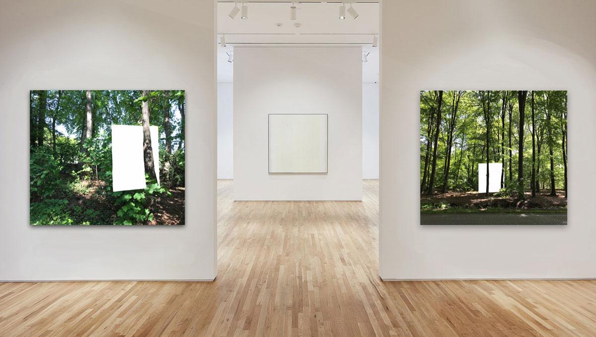 'A Minimal Life 1 en 2' samen met het werk van Agnes Martin in Pace Gallery, Palo Alto (VS)